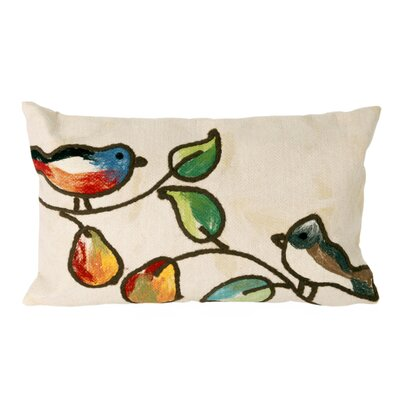Nunnally Song Birds Outdoor Lumbar Pillow Color: Cream