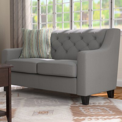 Wadsworth Loveseat Upholstery: Gray