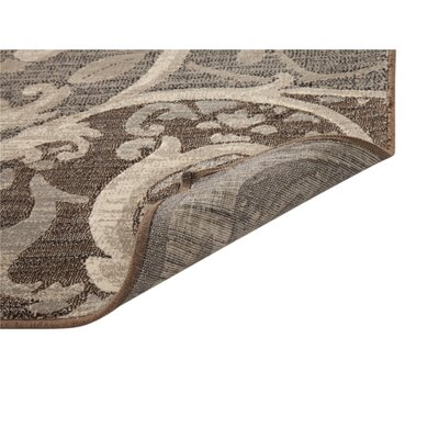 Glencoe Grey/Chocolate Area Rug Rug Size: 53 x 76
