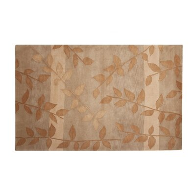 Mystic Hand-Knotted Gold/Beige Area Rug Rug Size: 5' x 8'