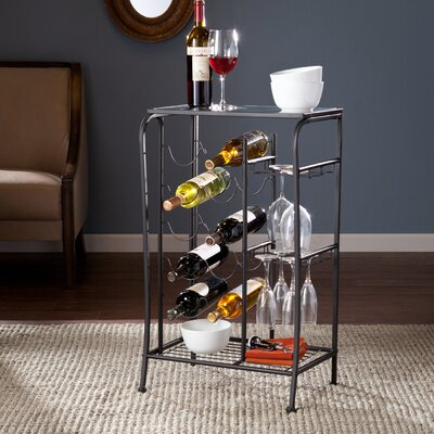 Alzado 10 Bottle Floor Wine Rack Finish: Black