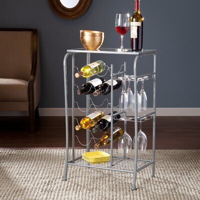 Alzado 10 Bottle Floor Wine Rack Finish: Silver
