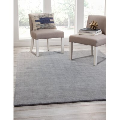 Loring Hand-Tufted Gray/Blue Area Rug