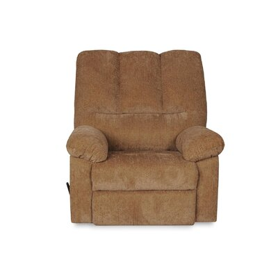 Rooney Rocker Swivel Recliner with Pillow Top Arms Upholstery: Olive