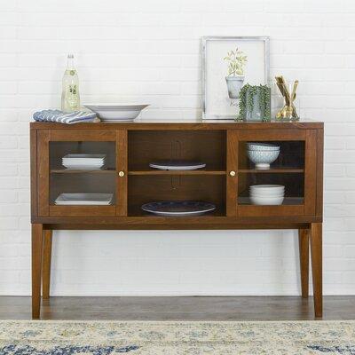 Oakford Wood Buffet Table Color: Walnut