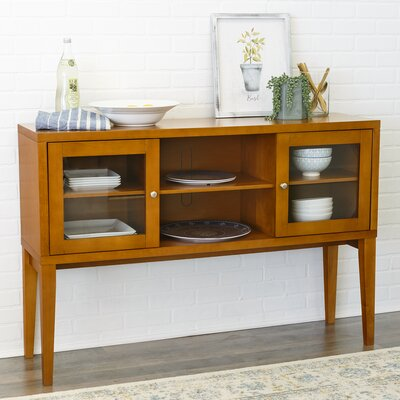 Oakford Wood Buffet Table Color: Acorn