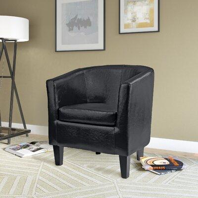 Cummingham Barrel Chair Upholstery: Black