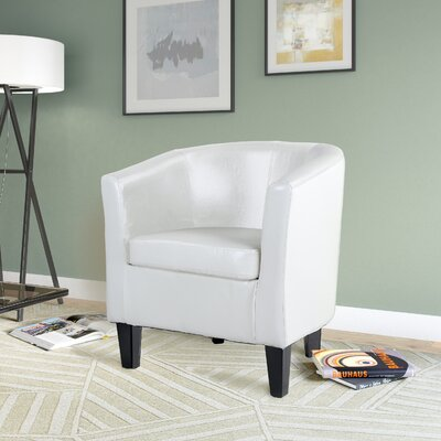 Cummingham Barrel Chair Upholstery: White