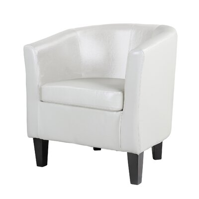 Cummingham Barrel Chair Color: White