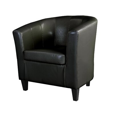 Cummingham Barrel Chair Upholstery: Black