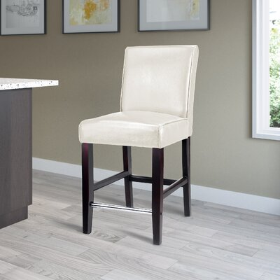 Cummingham 25 Bar Stool Upholstery: White