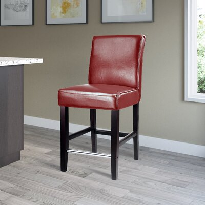 Cummingham 25 Bar Stool Upholstery: Red