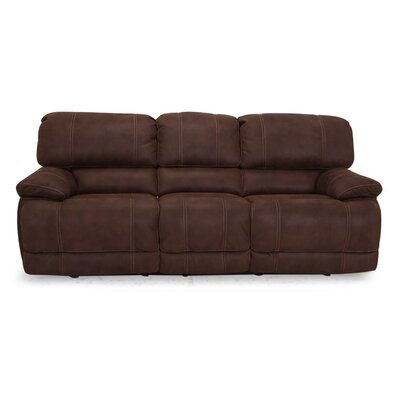Rankin Power Reclining Sofa Upholstery: Brown