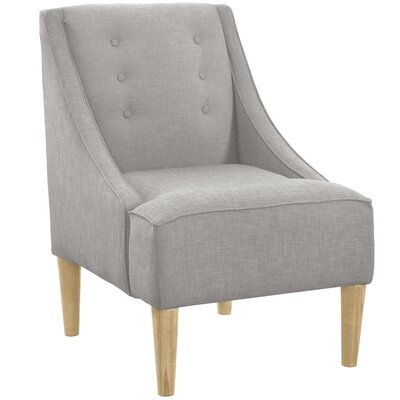 Taos Button Swoop Slipper Chair Upholstery: Klein Dove