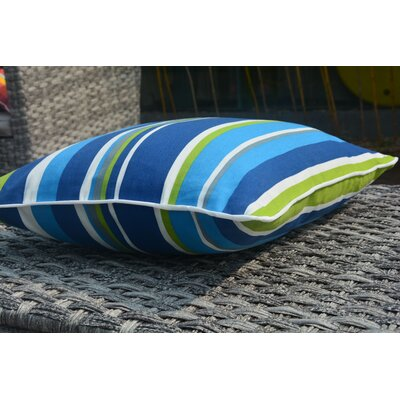 Beckett Square Zippered Striped Outdoor Throw Pillow