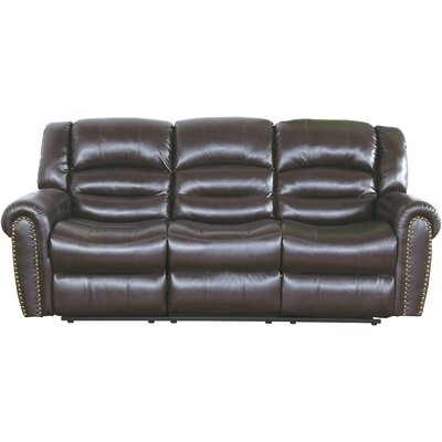 Baxley Reclining Sofa Upholstery: Brown