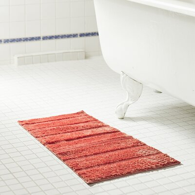 Middlefield Microfiber Bath Rug Color: Coral, Size: 32 H x 20 W