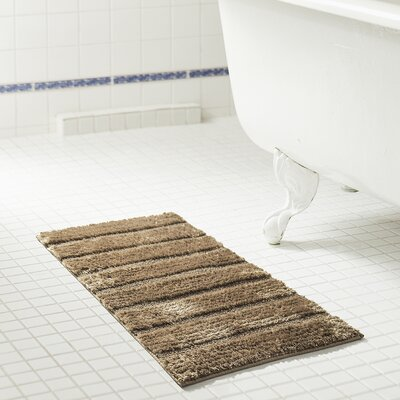 Middlefield Microfiber Bath Rug Color: Taupe, Size: 24 H x 17 W