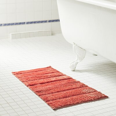 Coral color bathroom rugs