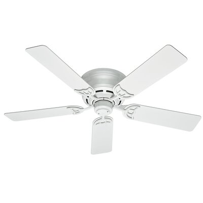 52 Low Profile III 5-Blade Ceiling Fan Finish: White
