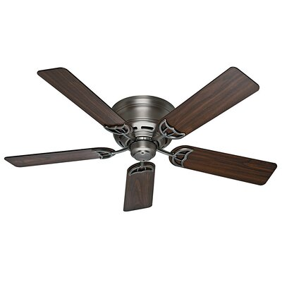 52 Low Profile III 5-Blade Ceiling Fan Finish: Antique Pewter with Walnut/Light Cherry Blades