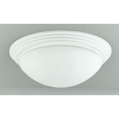 Ledyard 2-Light Flush Mount Shade Color: White