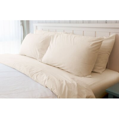 Melvin American Classic 180 Thread Count Sheet Set Size: Queen, Color: Bone