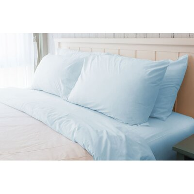Melvin American Classic 180 Thread Count Sheet Set Size: Queen, Color: Light Blue
