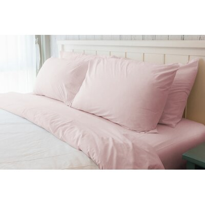 Melvin American Classic 180 Thread Count Sheet Set Size: Queen, Color: Rose