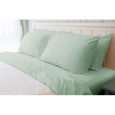 Melvin American Classic 180 Thread Count Sheet Set Size: Queen, Color: Seafoam Green