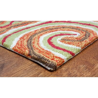 Bel Air Sunrise Kazakh Outdoor Orange Area Rug Rug Size: Runner 2 x 8