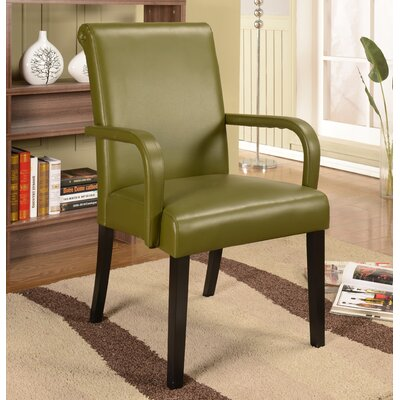 Byrne Arm Chair Color: Green