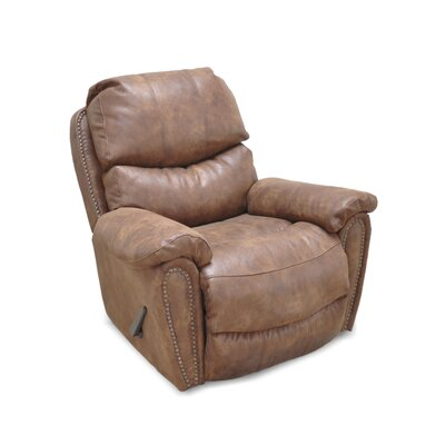 Carolina Manual Rocker Recliner Upholstery Color: Fabric - Walnut