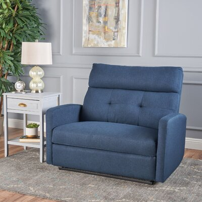 Wamsutter 2 Seater Recliner Color: Navy Blue