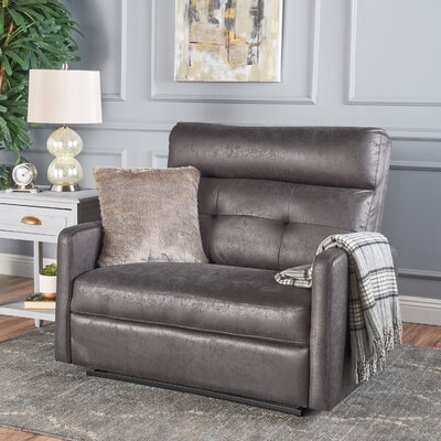 Wamsutter Manual Recliner Color: Slate Microfiber