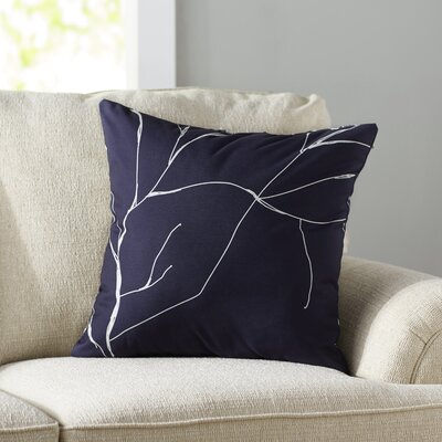 Laurel Valley Throw Pillow Size: 18 H x 18 W, Color: Spring Navy