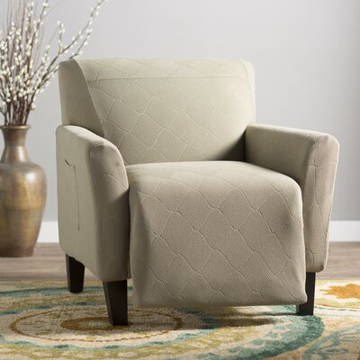 Levine Box Cushion Recliner Slipcover Upholstery: Sage