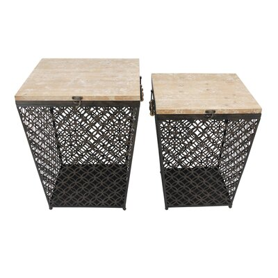 Hartigan 2 Piece Metal End Table Set