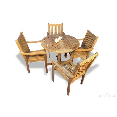 Rossford Patio 5 Piece Dining Set