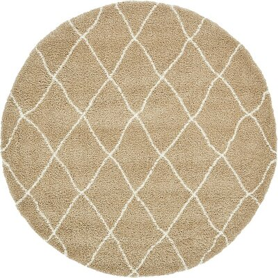 Cynthiana Taupe Area Rug Rug Size: Round 8 x 8