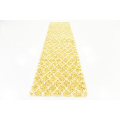 Cynthiana  Yellow Area Rug Rug Size: Runner 27 x 10