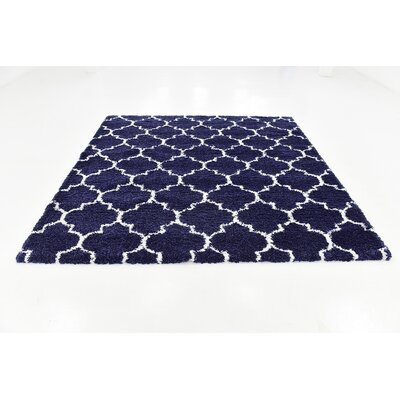 Cynthiana  Navy Blue Area Rug Rug Size: Square 8