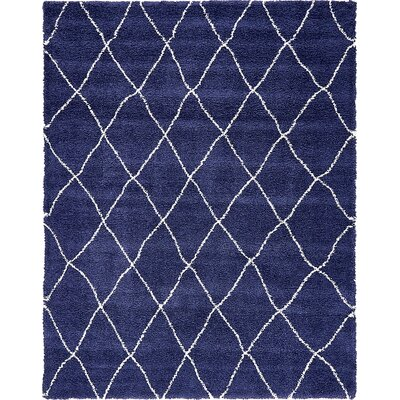 Cynthiana  Navy Blue Area Rug Rug Size: Rectangle 9 x 12