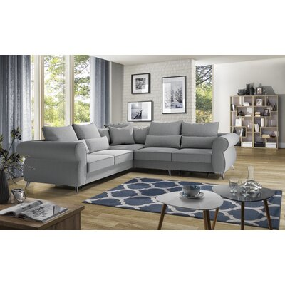 Klingensmith Right Corner Sleeper Sectional Upholstery: Grey