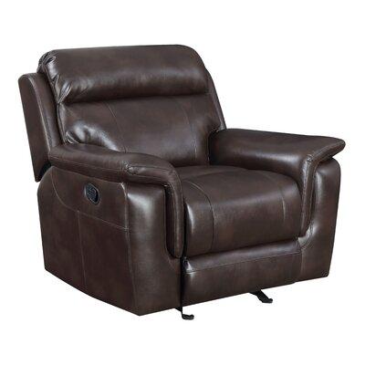 Randel Manual Recline Glider Recliner Upholstery: Cafe Noir