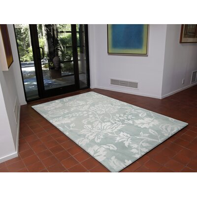 Jadu Hand-Tufted Wool Blue Area Rug Rug Size: Rectangle 83 x 115