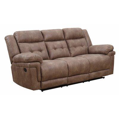 Rancourt Reclining Sofa Upholstery: Cocoa