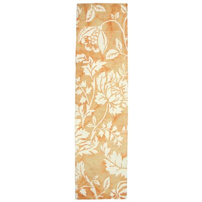 Levittown Hand-Tufted Rust Area Rug Rug Size: 36 x 56