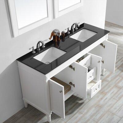 Millfield 60 Bathroom Vanity Set with Mirror Base Finish : Gray