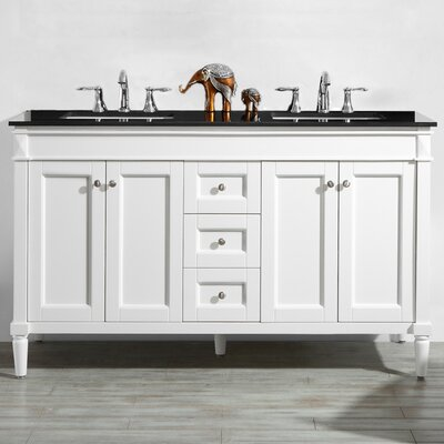 Millfield 60 Bathroom Vanity Base Finish : White